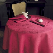 "Mille Datcha Framboise Tablecloth 69"" Round"