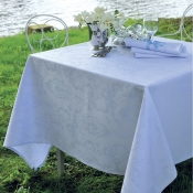 "Mille Rubans Porcelaine Tablecloth - 69"" X 118"""