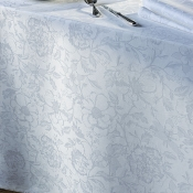 "Mille Charmes Blanc Tablecloth - 71"" Round"