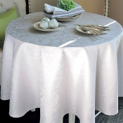"Mille Charmes Nacre Tablecloth - 69"" Round"