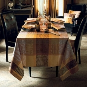 "Mille Wild Fauve Mille Wild Fauve Tablecloth - 71"" Round"