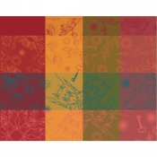 "Mille Alcees Litchi Coated Placemat - 16"" x 20"" / Set 4"