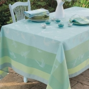 "Garnier Thiebaut Envolee Fog Tablecloth - 69"" Square"