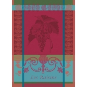 Garnier Thiebaut Les Raisins Lie De Vin Kitchen Towel / Set 4