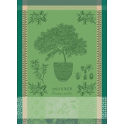Garnier Thiebaut Amandier En Pot Vert Kitchen Towel / Set 4