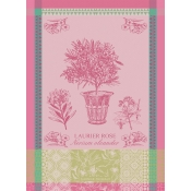 Garnier Thiebaut Laurier En Pot Rose Kitchen Towel / Set 4