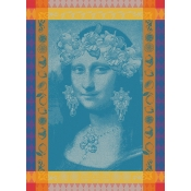 Garnier Thiebaut Mona Lisa Bleu Kitchen Towel / Set 4