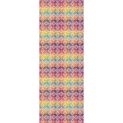"Garnier Thiebaut Mille Paves Multicolore Table Runner - 61""x 22"""