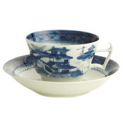 Mottahedeh Blue Canton  Tea Cup & Saucer