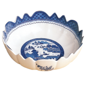 Mottahedeh Blue Canton  Scalloped Bowl - 10.5""