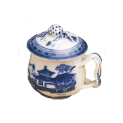 Mottahedeh Blue Canton  Pot de Creme with Lid