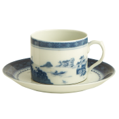 Mottahedeh Blue Canton  Can Cup & Saucer
