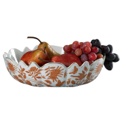 Mottahedeh Sacred Bird & Butterfly Scalloped Bowl