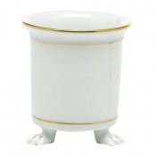 Herend Mini Cachepot w/ Feet - Golden Edge