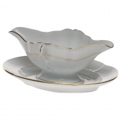 Golden Edge GRAVY BOAT W/FIXED STAND  0.75