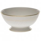 "Golden Edge FOOTED BOWL 5""D X 2.5""H"