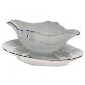 Platinum Edge GRAVY BOAT W/FIXED STAND  0.75