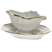 "Gwendolyn GRAVY BOAT W/FIXED STAND  10""L"