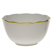 "Gwendolyn ROUND OPEN VEG BOWL  7.5""D"