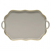 Gwendolyn RECTANGULAR TRAY W/HANDLES 18""