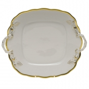 Gwendolyn SQUARE CAKE PLATE W/HANDLES  9