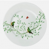 Wing Song Salad Plate (Green Bird)