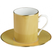 Haviland Parlon Lexington Jaune Tall Cup & Saucer