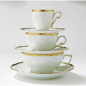 Colette Gold Breakfast Cup and Saucer