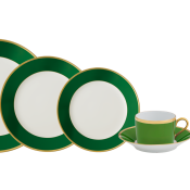 Arc En Ciel Empire Green Five Piece Place Setting