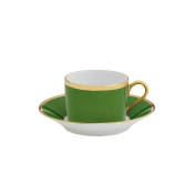 Arc En Ciel Empire Green Tea Cup and Saucer