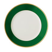 Arc En Ciel Empire Green Rim Soup Plate