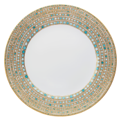 Syracuse Turquoise Presentation Buffet Plate - No Center