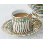 Syracuse Turquoise Demitasse Cup and Saucer