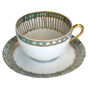 Syracuse Turquoise Tea Cup and Saucer