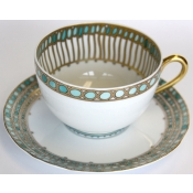 Syracuse Turquoise Breakfast Cup and Saucer