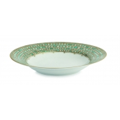 Syracuse Turquoise Rim Soup Plate