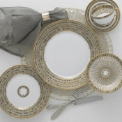 Syracuse Taupe Five Piece Place Setting