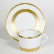 William Gold Tea Cup and Saucer