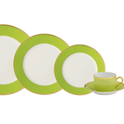 Arc En Ciel Almond Green Five Piece Place Setting