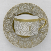 Farahnaz White Tea Cup and Saucer