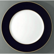 Raynaud Horizon Cobalt Blue With Gold Filet Charger