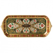 Old Imari Holiday Sandwich Tray -  Solid Gold Band