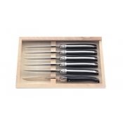 Laguoile - Black Laguiole Carving Set - Wooden Box