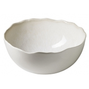 Plume White Pearl Serving Bowl