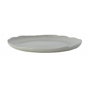 Plume White Pearl Serving Plate