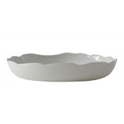 Plume White Pearl Pasta Serving Bowl