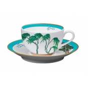 Jardin Celeste Breakfast Cup And Saucer (Set Of 2)