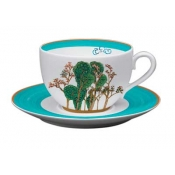 Jardin Celeste Large Tea Cup And Saucer (Set Of 2)