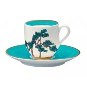 Jardin Celeste Coffee Cup And Saucer (Set Of 2)