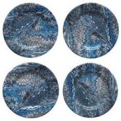 Juliska Firenze Delft Blue Cocktail Plates - Set 4